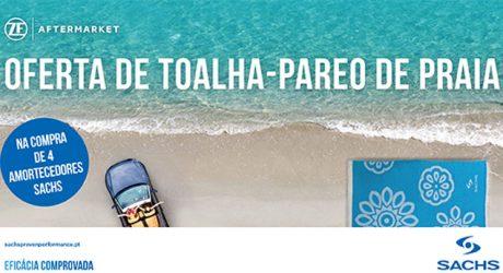 Amortecedores Sachs oferecem toalha de praia