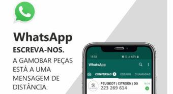 """Gamobar Peças """"a um WhatsApp de distância"""""""