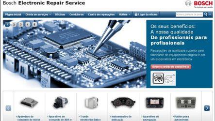 Bosch – Novo portal para serviço de reparação de peças eletrónicas