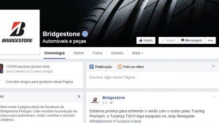 Bridgestone Portugal. Página oficial no Facebook