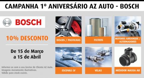 AZ Auto. Campanha 1º aniversário AZ Auto – Bosch