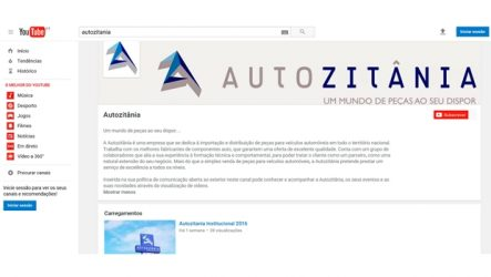 Autozitânia – Canal no YouTube