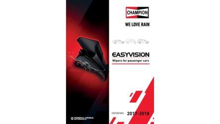 Champion – Novo catálogo de escovas Easyvision