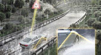 Continental desenvolve sistemas de assistência à deteção de aquaplanagem
