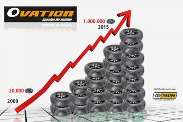 Tiresur. 1 000000 de Ovation vendidos em 2015