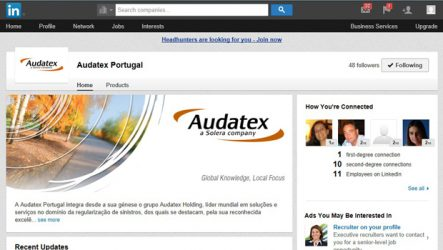 Audatex Portugal. Aposta no LinkedIn
