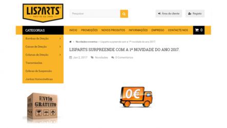 Lisparts – Entregas grátis em Portugal Continental