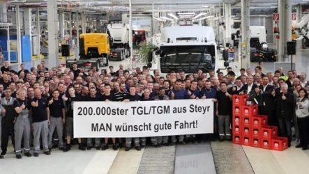 MAN – Fabricadas 200 mil unidades das séries TGL/TGM
