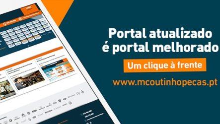 MCoutinho Peças – Atualização do portal