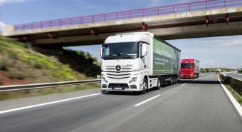 Mercedes-Benz – Testes de consumo de camiões na Via do Infante