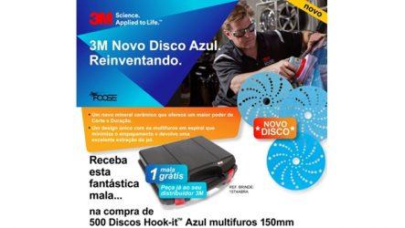 3M. Novo disco Hookit Azul Multifuros