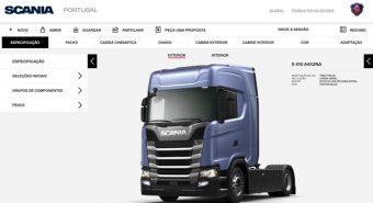 Scania – Plataforma online para configuração de camiões