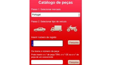 TRW. Pesquisa por matrícula facilita consulta do catálogo online