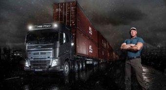 Volvo. FH16 reboca 750 toneladas (com vídeo)
