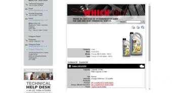 Millers Oils. Ferramenta online para escolher lubrificante