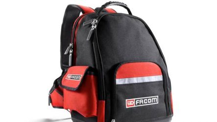 Facom. Novo mochila para mecânicos em movimento
