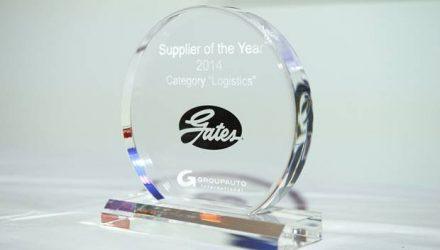 Gates. Recebe prémio da Groupauto como melhor fornecedor do ano
