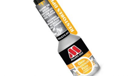 Millers Oil. Lança produto para limpar e regenerar filtro de partículas