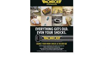 """Monroe: """"Até os amortecedores envelhecem"""""""