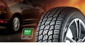 Galusal. Apresenta marca de pneus PACE na Expomecânica