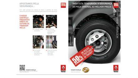 Renault Trucks. Campanha de travões 2014 até junho