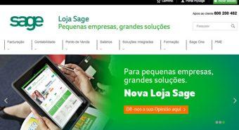 Sage. Nova loja online ajuda clientes