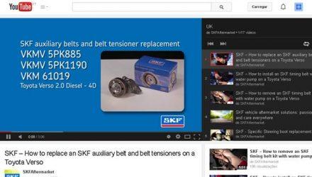 SKF. Videos técnicos demonstram boas práticas