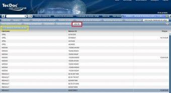 TecDoc. Preços OE já disponíveis no catálogo TecDoc online